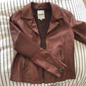Faux leather bomber jacket by BBDakota